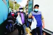 Gore Huancavelica traslada alimentos para abastecer mercados