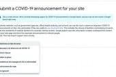 Search Console permite administrar y ver mensajes relacionados con el Coronavirus en sus páginas